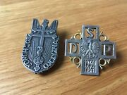 Polish Army In France Ww2 1940 1st Grenadier And 2d Foot Rifle Divisions Badge Lot