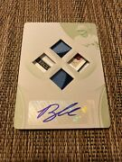 Brandon Lowe 2020 Immaculate Auto Quad Relic Print Plate 1/1 Tampa Bay Rays