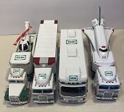 4 Hess Truck Lot 95 97 98 99 Helicopter Space Shuttle Semi Winabago As-is