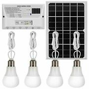 Solar Lights Indoor Home 4 Hanging Led 12w Solar Panel Phone Charger 6000mah