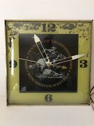 """Vintage 1966 Winchester Rifle Gun Hunting 15"""" Lighted Metal Pam Clock Sign"""