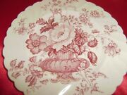 6 Vintage Royal Staffordshire Clarice Cliff Charlotte 6 1/2 Inch Tea Plates