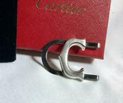 Menand039s Money Clip Silver Stainless Steel Logo C Charm Used Condition M491