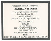 Richard Feynman Theatrical Collection The Theoretical Physicist As Thespian