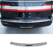 For Lincoln Navigator 2018-2021 Silver Steel Outer Rear Bumper Protector Guard