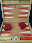 Vintage Royal By Crisloid Backgammon Game Red And Cream Bakelite