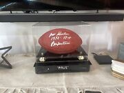 Wilson Nfl Authentic Game Signed By Don Shula And 17-0 1972, Perfection. Ironclad