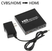 Cvbs Av Hdmi To Hdmi Video Converter 1080p For Ps4 Dvd Pc Laptop To Tv Monitor