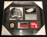 1979 Detroit Red Wings Olympia Final Game Ticket Psa 5 Framed Piece 20x17