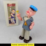 Popeye The Rioter Celluloid Wind-up Modern Toys Japan ... See Movie
