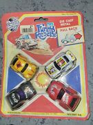 Vtg Road Tough Die Cast Metal Mini Funny Racers Toy Cars New Old Stock
