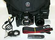 Canon Eos Rebel Xsi Dslr Camera With Ef-s Is 18-55mm Zoom Lens F/3.5-5.6 - Black
