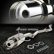 Stainless Cat Back Exhaust System 4 Tip Muffler For 02-05 Civic Si R Ep3 Hb