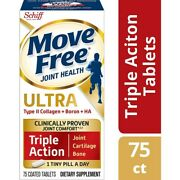 Schiff Move Free Ultra Triple Action Joint Cartilage Bone 75 Tablets Exp 06/2024