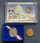 1986 S Statue Of Liberty / Kennedy P Half Dollar /1997 D Full Color Lot 3 Coins