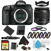Canon Eos 7d Mark Ii Dslr Camera Body Only 9 Piece Filter Bundle W/memory And 18-5