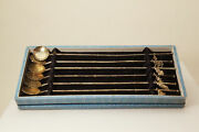 950 Sterling Silver Vintage Japanese Iced Tea Straw Set 58.2 Grams Ant3119