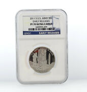 2011-s Us Army Half Dollar Coin 50c Ngc Pf70 Ultra Cameo Proof Early Releases