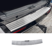For Lincoln Navigator 2016-2017 Silver Steel Outer Rear Bumper Protector Guard