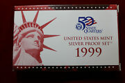 1999 United States Mint Silver Proof Set 9-san Francisco Minted Proof Coins