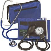 Prokit Adult Combo Aneroid Sphygmomanometer With Dual-head Stethoscope Royal Bl