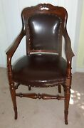Historical Antique Walnut Dining Meat Carvers Chair For Rev Thomas Starr King