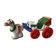 Fisher Price Little People Christmas Carriage Horse Tree Lighting Holly Holiday