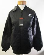 Nwt Nike Sportswear Nsw Womens Air Satin Quilted Bomber Jacket S Black Msrp160