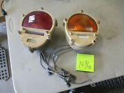 2 Used Aluminum Brake And Turn Lights 24v, Fair Cond, For Hmmwv Military Vehicle
