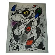 Joan Miro, Miro A L'encre Ii Lithograph On Wove Paper 14 1/8 X 10 5/8 Authentic
