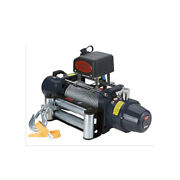 Vi Universal Tds-6.5 6500lb Pound Electric Recovery Winch 12v Steel Cable Rope