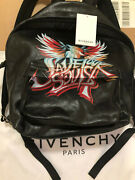 Rare Sold Out Givenchy Paris Save Our Souls Logo Leather Backpack Msrp 2500