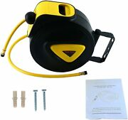 Retractable Air Hose Reel Enclosed Plastic 33and039x5/16 Durable Heavy Duty New