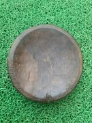 Antique Hand Carved Wooden Tribal Himalaya Salad Bowl Plate Platters 1800and039s