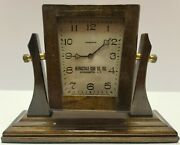 Antique Ansonia Bernicedale Coal Co. Ny Mechanical Wind-up Advertising Clock