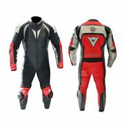 Dainese Leather Suit 1-piece T.vulcan Black Red Size 50 50