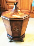 Nwot Signed By Charles Spencer Theodoro Alexander Mahogany Crown Octagonal Chest