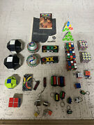 Vintage Mixed Lot Rubiks Cube Whip It Orb Pyramid Missing Link Snake Puzzles Etc
