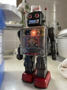 Horikawa Robot Current Product Valuable Japanese System Old Tin Antique Used
