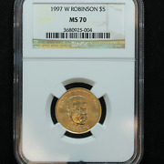 1997-w 5 Jackie Robinson Us Gold Commemorative Ngc Ms 70