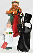 Byers Choice Dickens Spirit Of Christmas Future Past And Present - Free Shipping