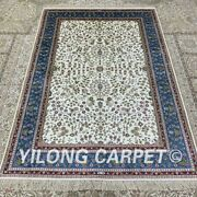 Yilong 4and039x6and039 Handmade Silk Area Rug Home Decor Antistatic Indoor Carpet H301b