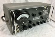 Vintage Nm-52a Radio Interference And Field Intensity Meter Stoddart Aircraft