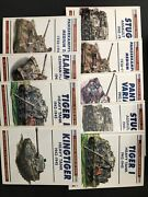 World War 2 History Fighting Armor Of Wwii / Lot Of 9 Books