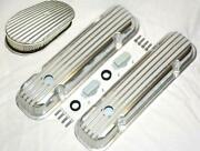 Pontiac Nostalgic Polished Aluminum Finned Valve Covers And 15 X 2 Air Cleaner