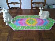 Easter Table Runner With Glitter Bunny And Eggs 16 1/2' X 40'