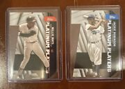2021 Topps Series 1 Platinum Players Die Cut Black Parallel Robinson And Mays