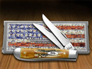 Case Xx Mini Trapper Knife 6.5 Bone Stag Handle Stainless Pocket Knives 65305