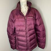 Columbia Womens Glam Her Down Jacket Quilted Winter Coat Puffer Size Medium