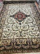 10and039 X 14and039 New Indian Morsh Design Oriental Rug - Very Fine - Hand Made 100 Wool